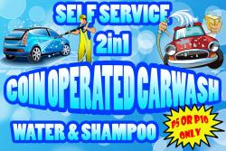 Coin Operated Car Wash 2in1 (two in one) - Water and Shampoo